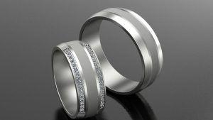 Как выбрать обручальные кольца из белого золота