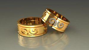 Сколько весят обручальные кольца 585 пробы?