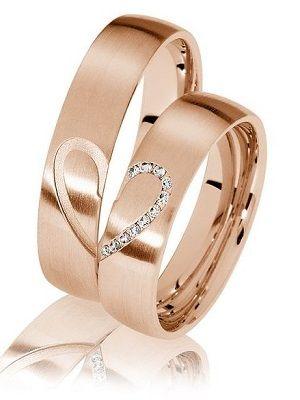 кольца с половинками сердец