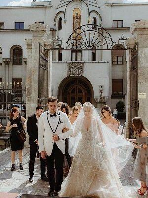 молодые в день свадьбы