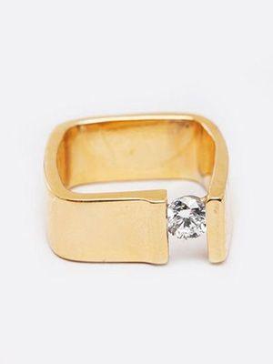 квадратное обручальное кольцо