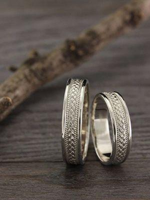 Выбираем обручальные кольца с косичкой или плетением