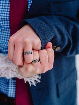 обручальные кольцо тату