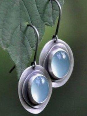 серьги из серебра с камнями
