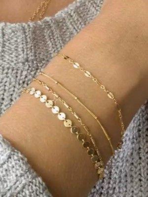 тонкие золотые браслеты