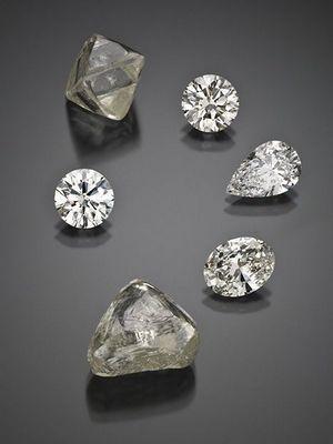 алмазы разной формы