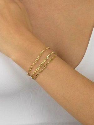 тройной золотой браслет