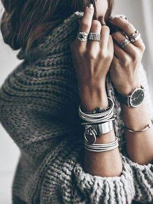 серебряные женские украшения