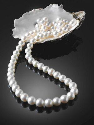 ожерелье с настоящим жемчугом