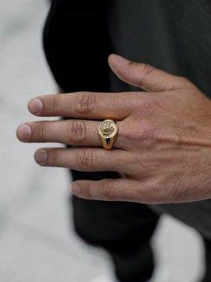 мужское кольцо из золота