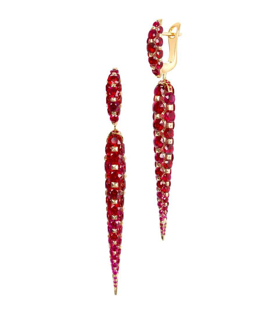 Современные украшения с рубинами сказочной красоты