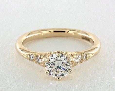Лучший цвет алмаза для кольца из желтого золота