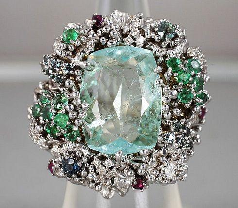 кольцо с амблигонитом