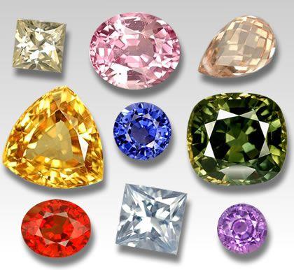 Множество оттенкои бриллианта