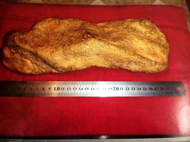 В России обнаружен огромный золотой самородок