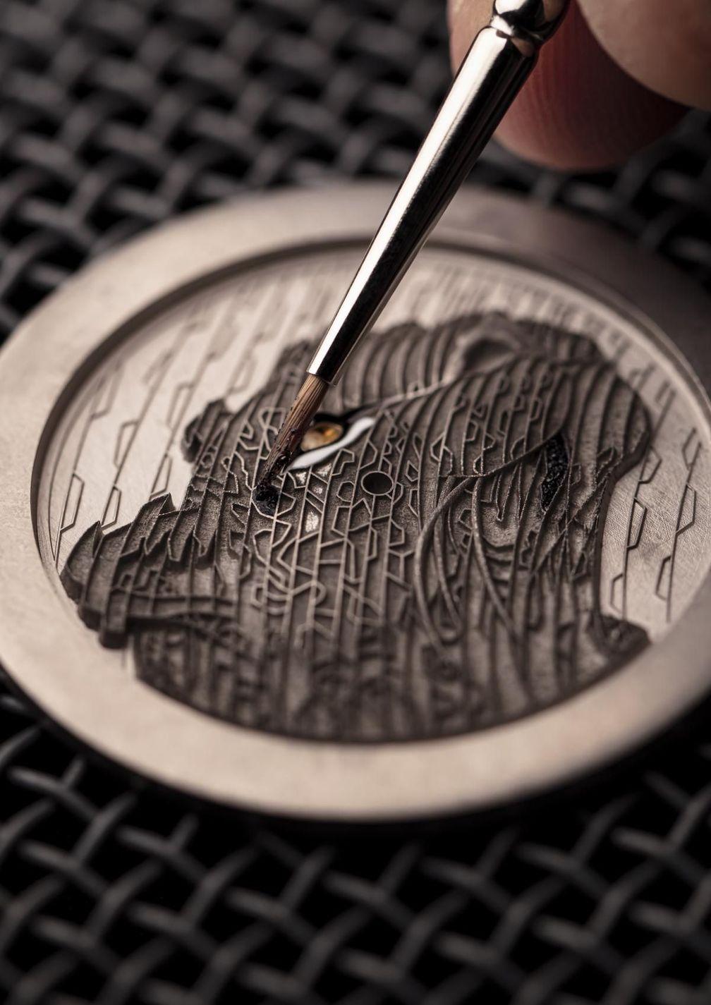 Создание часов Ronde Louis Cartier с инкрустацией