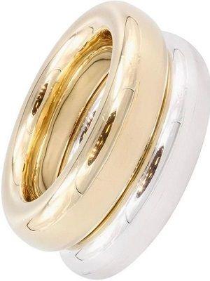 Кольцо из золота и серебра