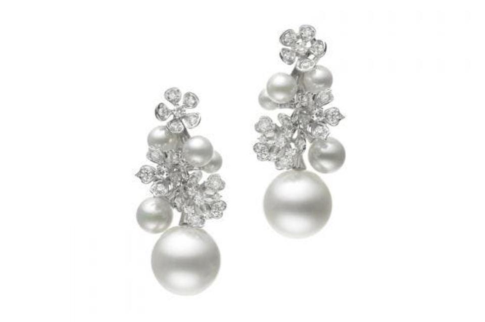 Серьги с бриллиантами и жемчугом от Mikimoto