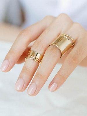 золотые широкие кольца