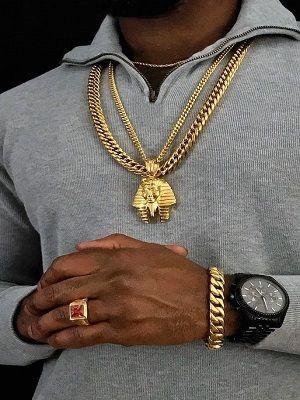 Мужской золотой перстень