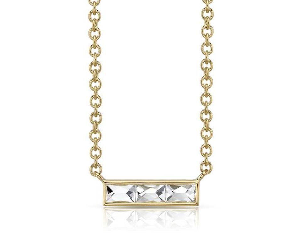 Ожерелье с бриллиантами от Single Stone