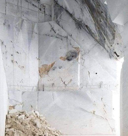 добыча белого мрамора