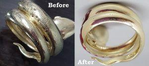 Украшения до и после работы ювелиров