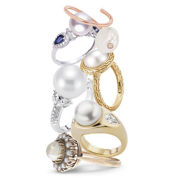 Обручальные кольца с жемчугом
