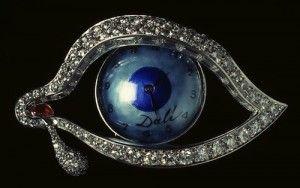 Часы Eye of Time из голубой эмали и платины с рубином и бриллиантами