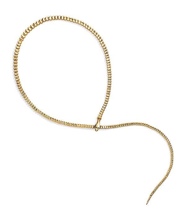 Ожерелье Snake из желтого золота