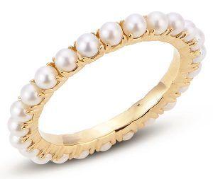 Кольцо из золота с пресноводным жемчугом