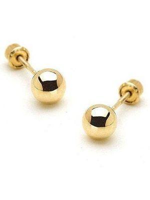 золотые серьги-шары