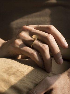 кольцо из цыганского золота