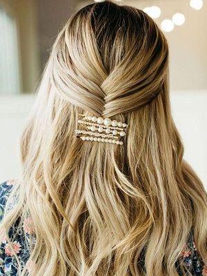 способы крепления заколок для волос