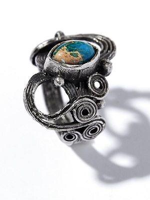 кольцо с поделочным камнем
