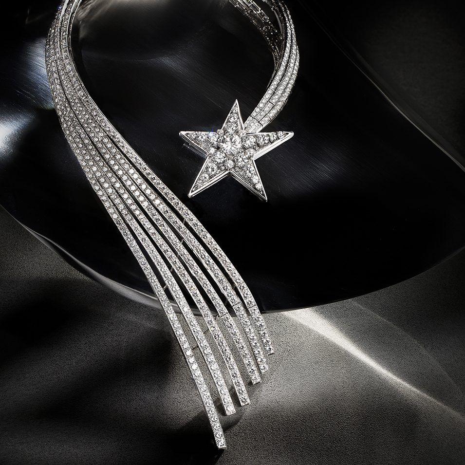 Ожерелье Comète от Chanel из платины и бриллиантов