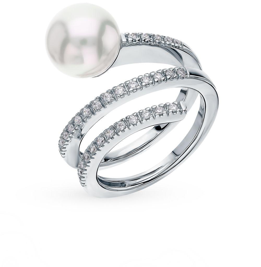 Серебряное кольцо с жемчугом от MAJORICA