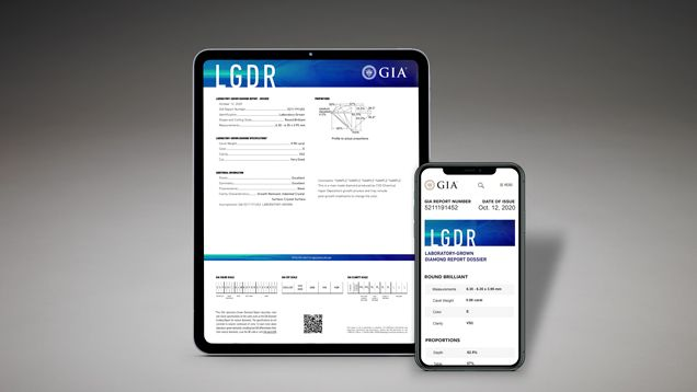 отчет LDGR от GIA