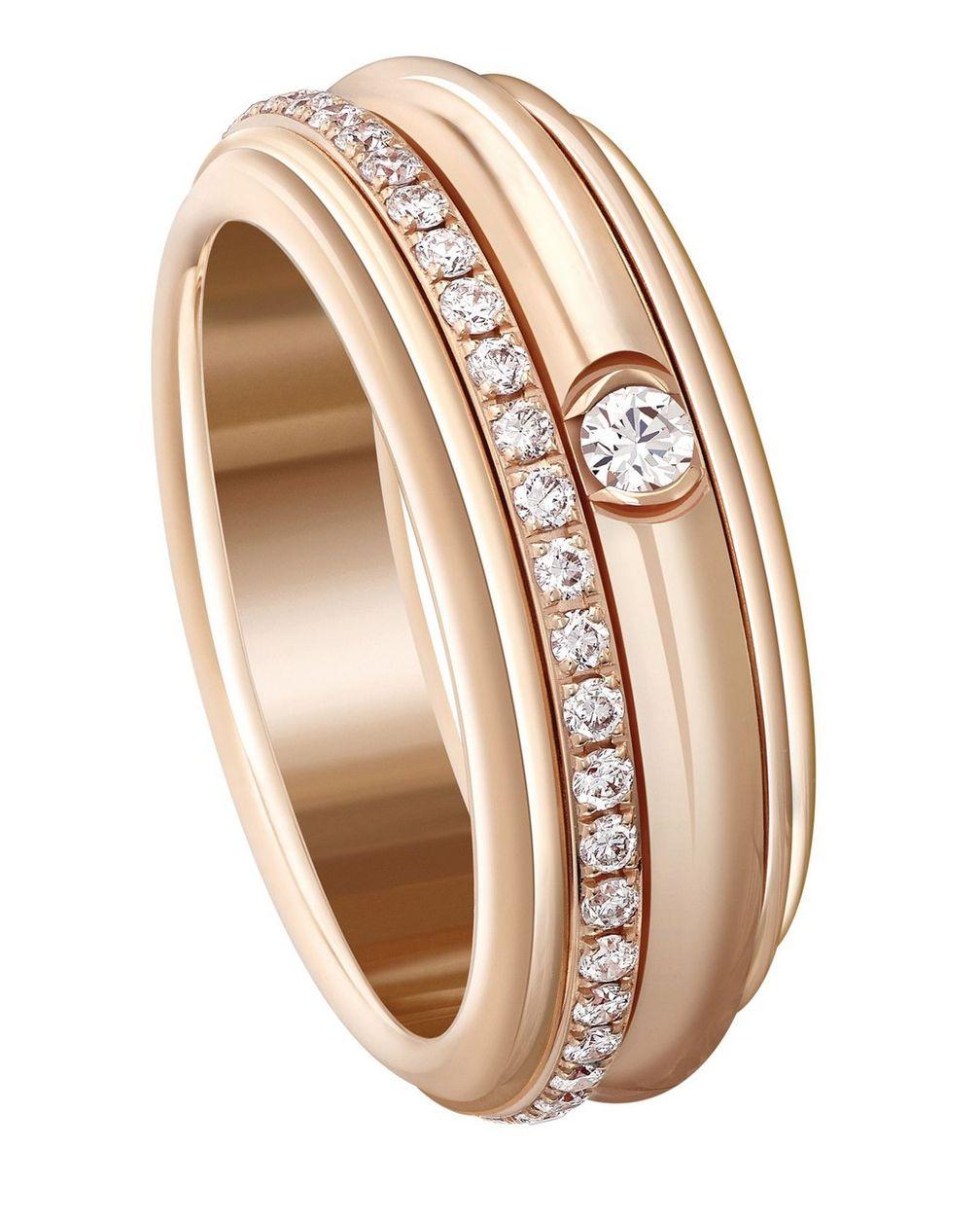 Кольцо Possession от Piaget из розового золота с бриллиантами