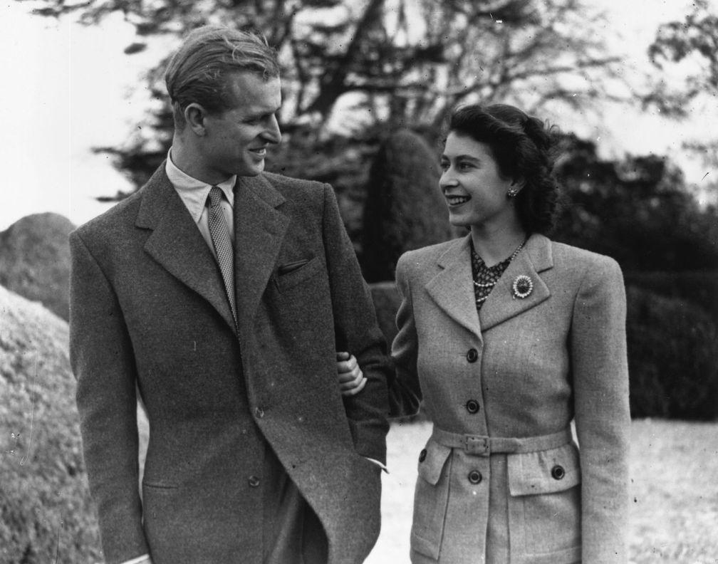 Королева Елизавета II и принц Филипп, герцог Эдинбургский, Хэмпшир1947 году