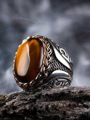 кольцо с тигровым глазом