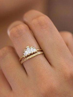 как комбинировать золотые кольца