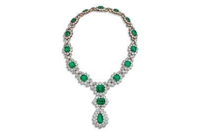 Изумрудное и бриллиантовое ожерелье от Bulgari