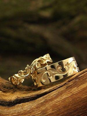 парные кольца на свадьбу