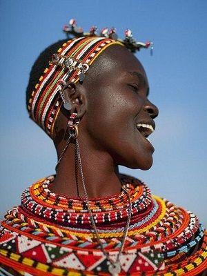 как украшают себя в Африке