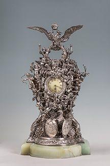 Каминные часы Фаберже
