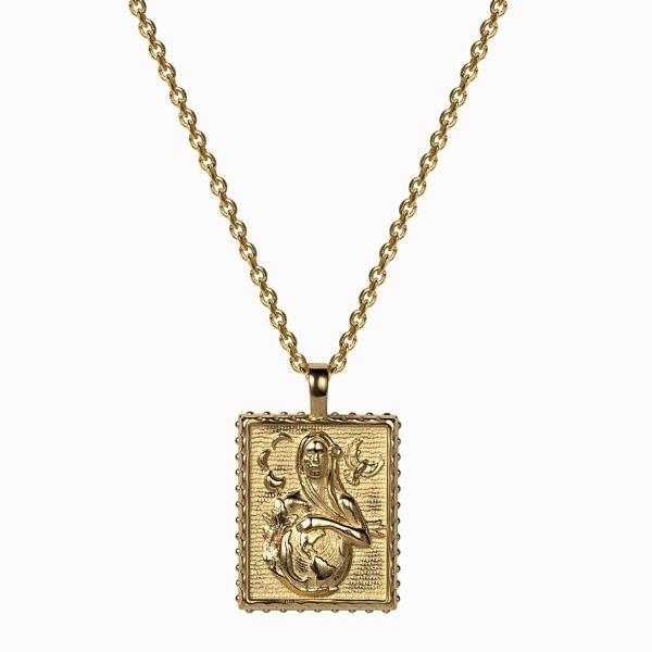 Кулон Pachamama от Awe Inspired, позолоченное серебро Vermeil