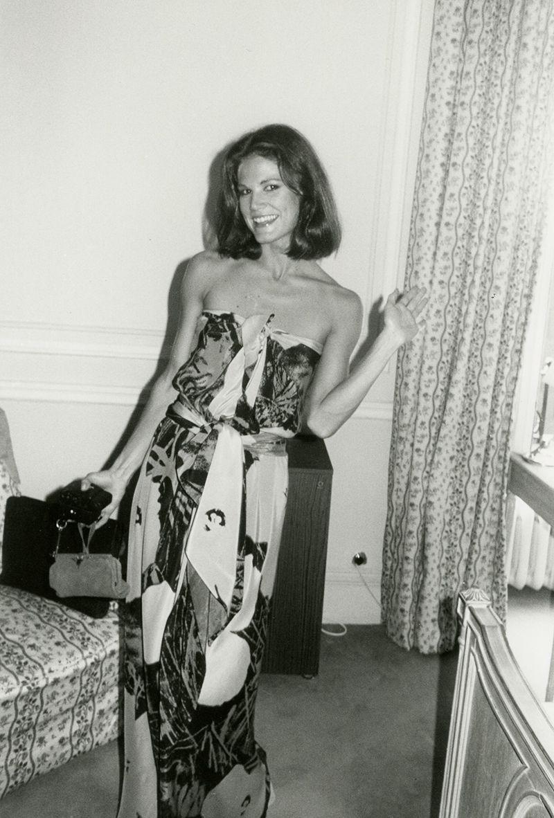 Фото Барбары Аллен де Квятковски, сделанное Бобом Колачелло в Лондоне в 1976 году