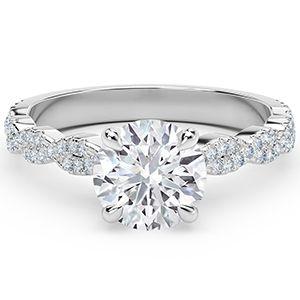 Обручальное кольцо от Forevermark из белого золота с круглой витой бриллиантовой лентой
