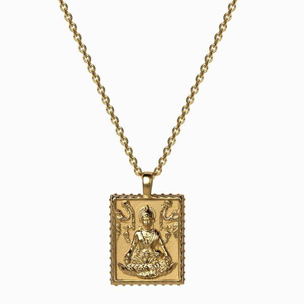 Кулон Lakshmi, позолоченное серебро Vermeil